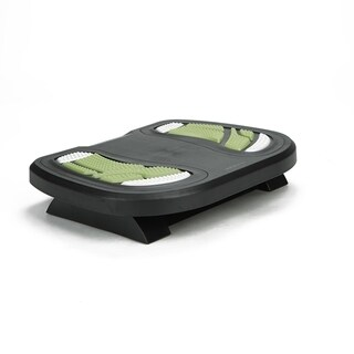 Mind Reader Adjustable Height Under Desk Non-Slip Ergonomic Foot Rest with Foot Prints, Green