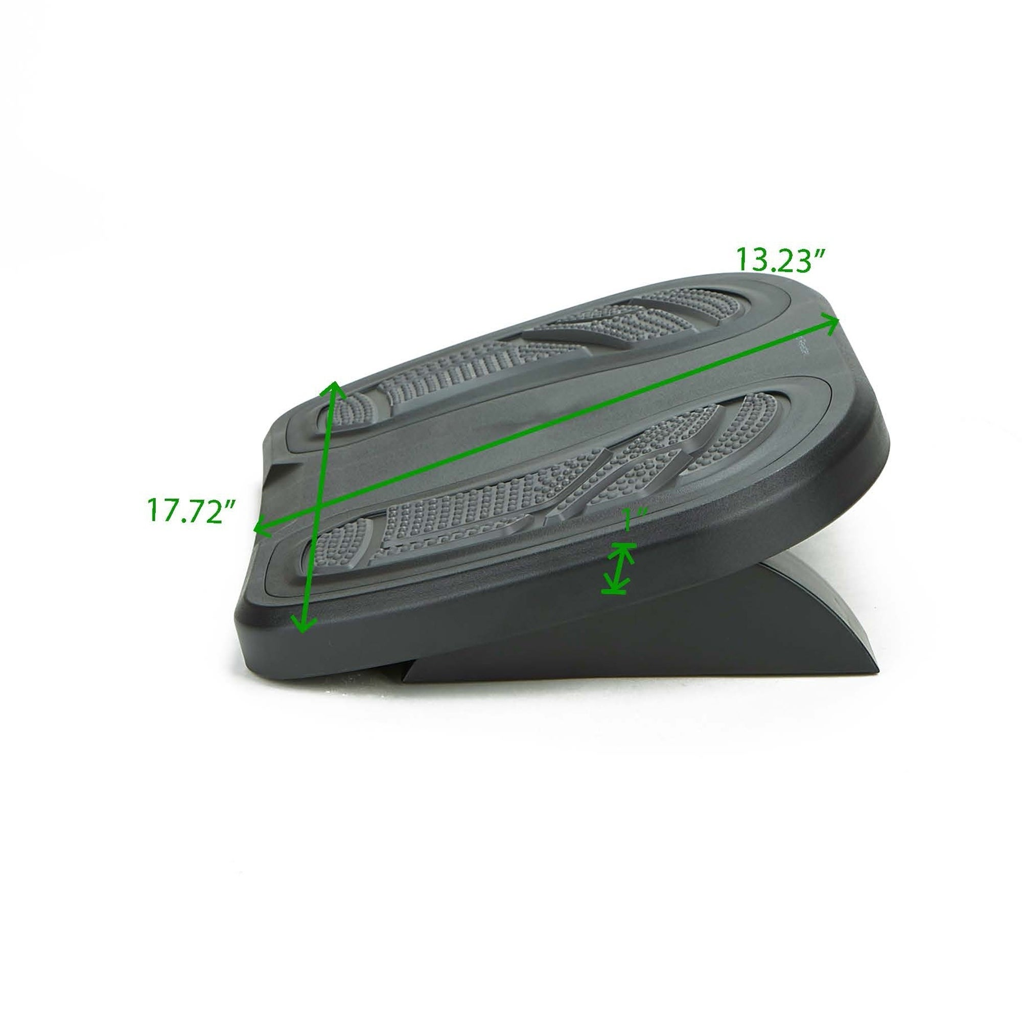Mind Reader Adjustable Height Under Desk Non Slip Ergonomic Foot Rest With Foot Prints Gray Overstock 20860424