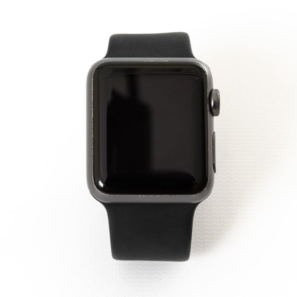 Shop Apple Watch Series 2 42mm Space Gray Aluminum Case Black Sport