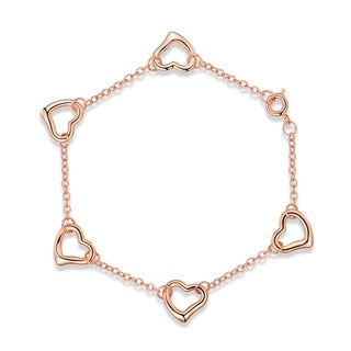 Rose Gold Plated Heart Shape Bracelet