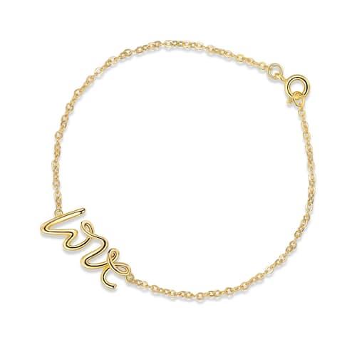 "Gold Plated ""Love"" Shape Bracelet"