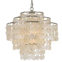 Crystorama Brielle Collection 4-light Antique Silver Chandelier