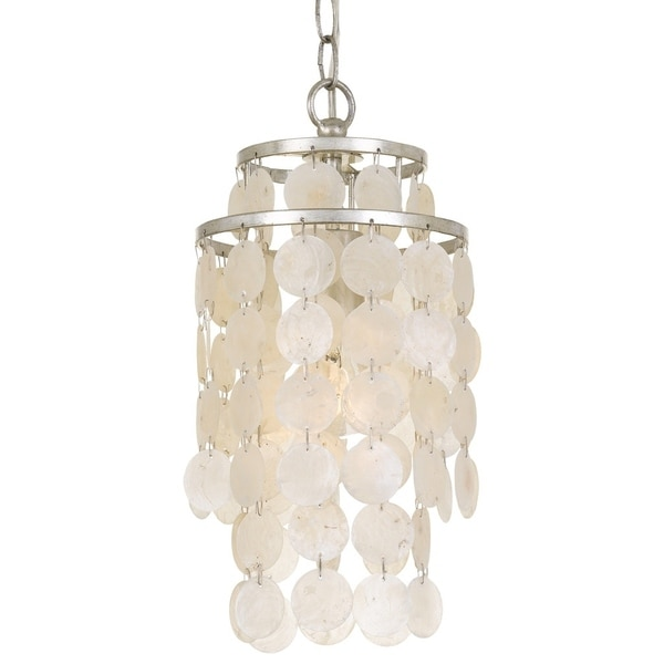 Crystorama Brielle Collection 1-light Antique Silver Mini Chandelier