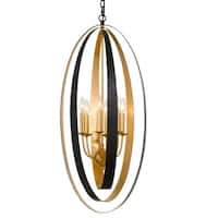 Crystorama Luna Collection 6-light English Bronze/Antique Gold Pendant