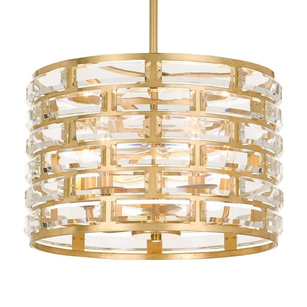 Crystorama Meridian Collection 5-light Antique Gold Chandelier