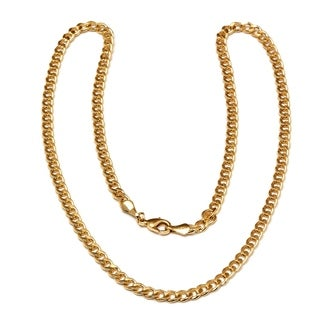 Gold Plated Gold 28inch Curb Link Chain