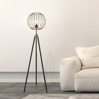 Parry floor lamp in antique brass