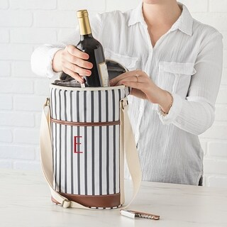 Personalized Striped Wine Cooler (More options available)