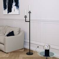 Banta floor lamp with double torchiere