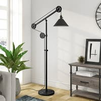 Devonshire Floor Lamp In Blackened Bronze With Pulley System