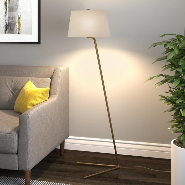 Marcus floor lamp in brass
