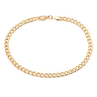 Goldplated 26-inch Curb Link Chain Anklet - Gold