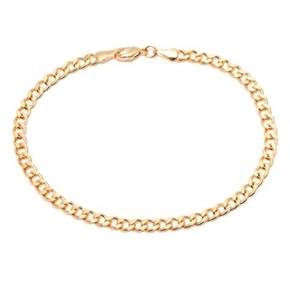 Goldplated 28-inch Curb Link Chain Anklet - Gold