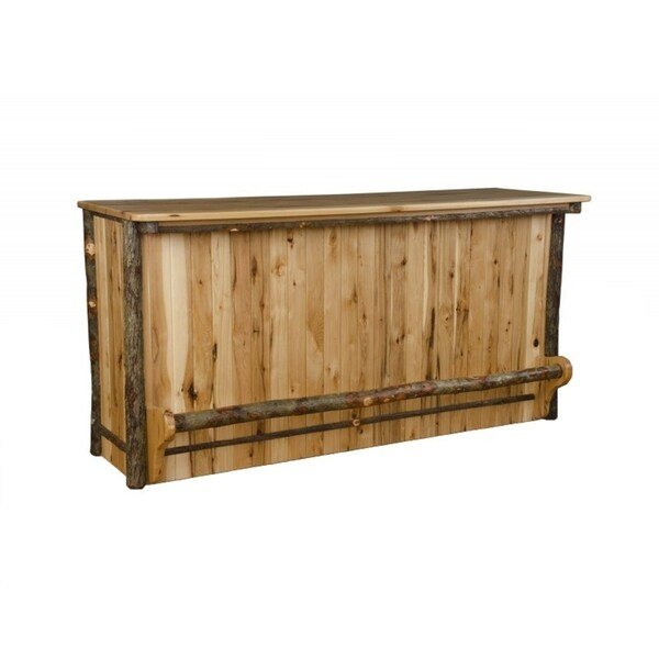 Shop Rustic Hickory 5 Foot Bar With Foot Rail