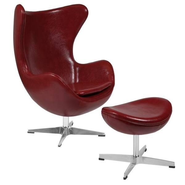 De Egg Chair.Shop Egg Chair With Tilt Lock Mechanism And Ottoman Overstock