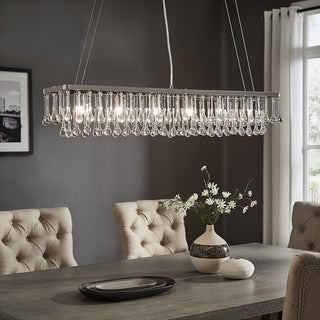Taren Chrome Finish 6-light Rectangular Drop Chandelier by iNSPIRE Q Modern