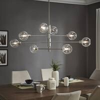 Stassi Nickel Finish Adjustable 8-light Sputnik Chandelier by iNSPIRE Q Modern