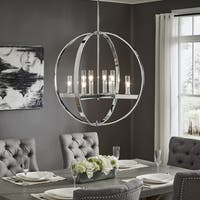 Jasper Chrome Finish Adjustable 8-light Orb Chandelier by iNSPIRE Q Modern