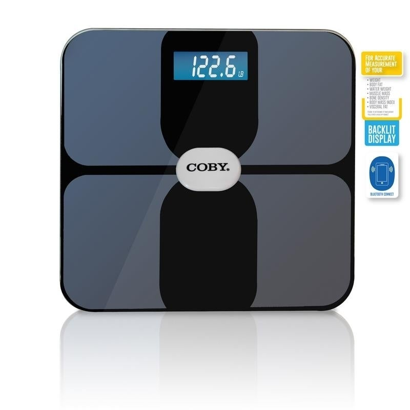 Coby Bluetooth Digital Glass Full Body Analysis Bathroom Scale Overstock 20861745