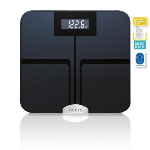 Coby Bluetooth Digital Glass Full Body Analysis Bathroom Scale