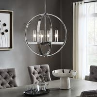 Jasper Chrome Finish Adjustable 4-light Orb Chandelier by iNSPIRE Q Modern