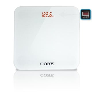 Coby Digital Glass Bathroom Scale with Hidden LED Display