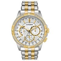 Citizen Men's Eco-Drive Diamond Bezel Watch