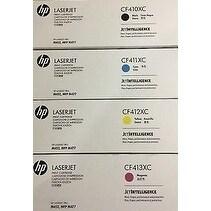 HP 410XC HY BK/C/Y/M OriginalToner Cartridges,4 PK(CF410XC,CF411XC,CF412XC,CF413XC)