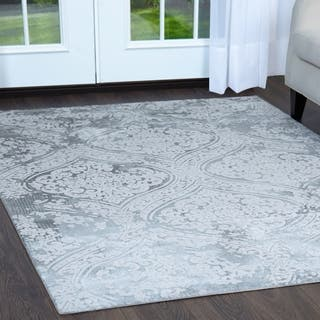 Minerva Fl Trellis Gray Area Rug By Home Dynamix 7 10 X10