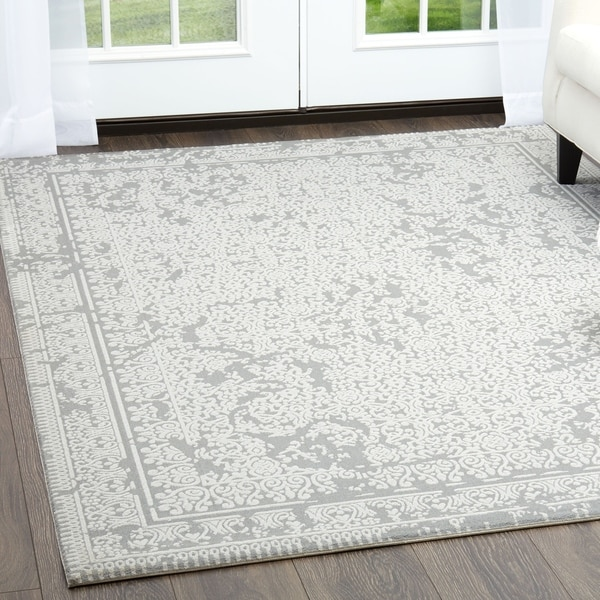 Shop Minerva Abstract Gray Area Rug By Home Dynamix 6 6