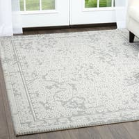 """Minerva Abstract Gray Area Rug by Home Dynamix - 6'6""""x9'5"""""""
