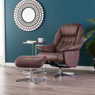 Linkoln Mocha Brown Reclining Chair/Ottoman