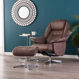Harper Blvd Linkoln Mocha Brown Reclining Chair/Ottoman