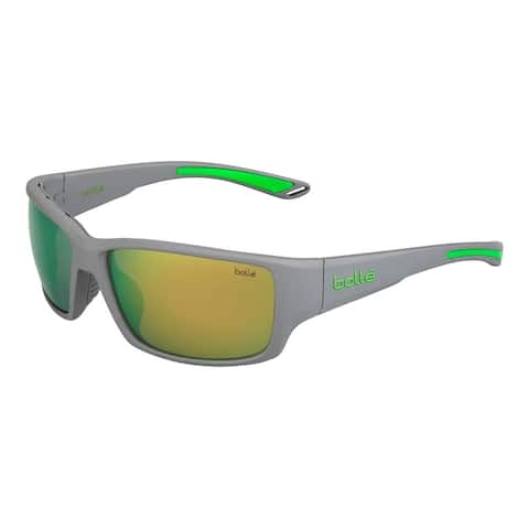 Bolle Kayman Sunglasses, Matte Grey and Green - Medium