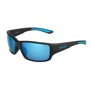 Bolle Kayman Sunglasses, Matte Black and Blue - Medium