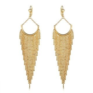 Gold Plated Gold Chandelier Earrings