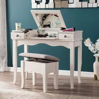 Harper Blvd Eliza Soft Ivory with Gray Vanity/ Bench Set