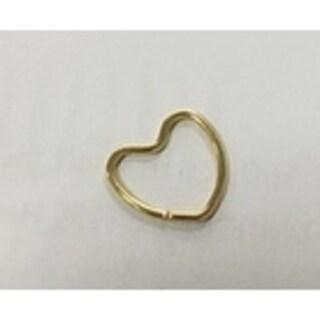 Steeltime Ladies Gold Tone Heart Infinity Loop Ring