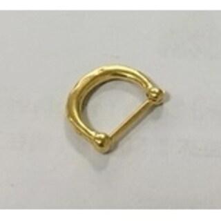 Steeltime Unisex Gold Tone Classic Septum Ring