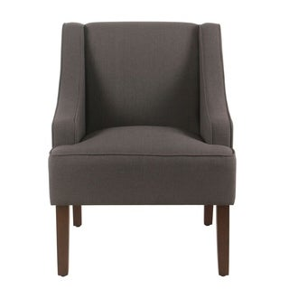 Porch & Den Los Feliz Lyric Charcoal Grey Swoop Arm Accent Chair