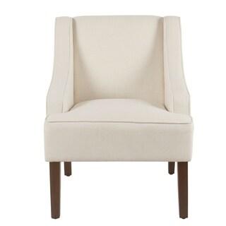 Homepop Classic Swoop Arm Accent Chair - Cream