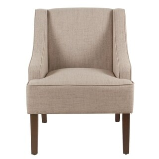 Porch & Den Los Feliz Lyric Tan Swoop Arm Accent Chair