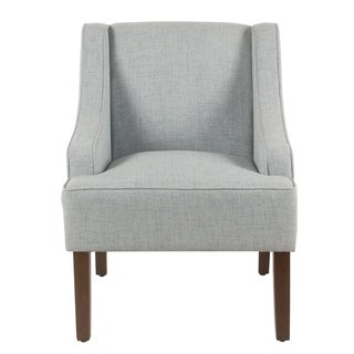 Porch & Den Los Feliz Lyric Light Blue Swoop Arm Accent Chair
