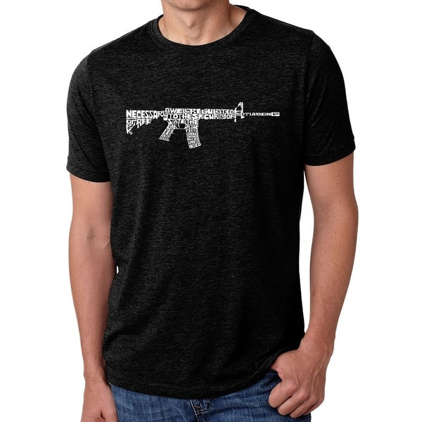 Los Angeles Pop Art Mens Premium Blend Word Art T-shirt - AR15 2nd Amendment Word Art