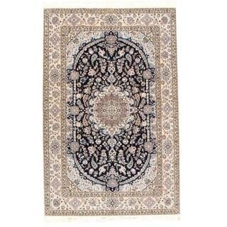 Pasargad NY Fine Persian Nain Silk & Wool 6-Lines Rug - 5.5 *8.4