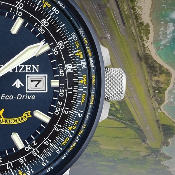 Citizen Men's Eco-Drive Blue Angels Leather Watch