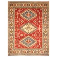 Handmade Herat Oriental Afghan Hand-knotted Tribal Kazak Wool Rug (9'7 x 12'2) - 9'7 x 12'2
