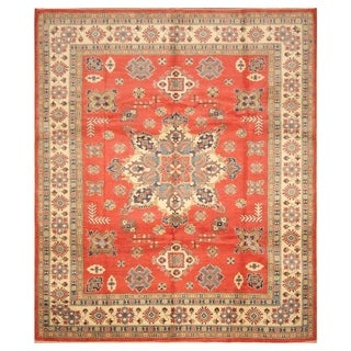 Handmade Kazak Wool Rug (Afghanistan) - 8'9 x 10'2