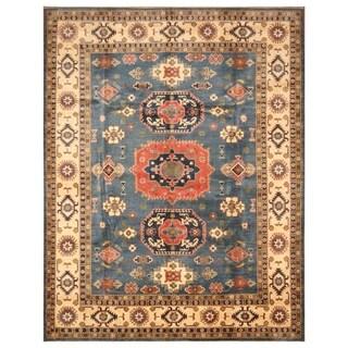 Handmade One-of-a-Kind Kazak Wool Rug (Afghanistan) - 9' x 11'8