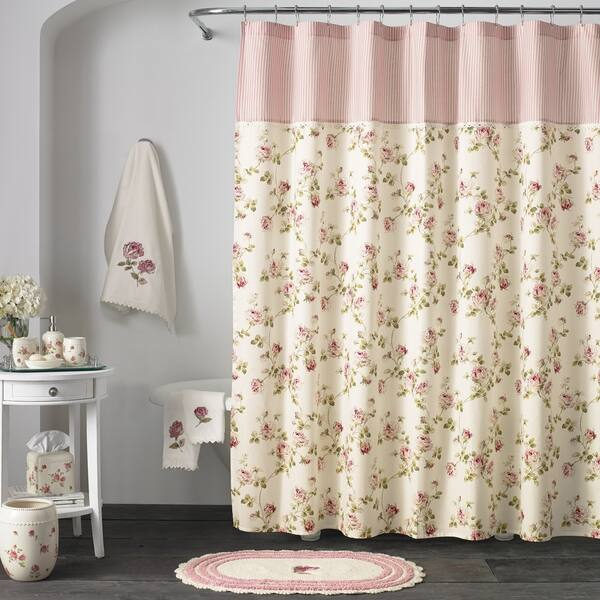 Shop Five Queens Court Rosalind Floral Chic Shower Curtains On